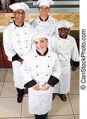chefs, heureux