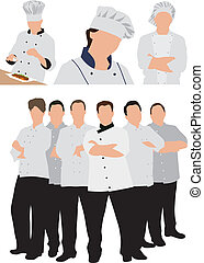 chefs, illustration