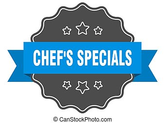 chef's specials label. chef's specials isolated seal. sticker. sign