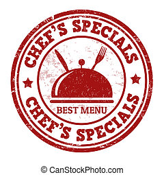 Chef's specials stamp