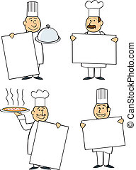 Chefs With Signs