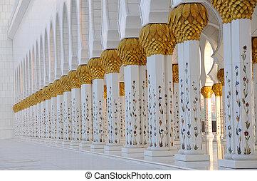 cheikh, uni, zayed, mosquée, arabe, emirats, abou dhabi