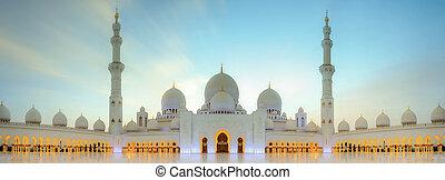 cheikh, zayed, mosquée, grandiose