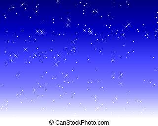 cheio, céu, estrelas