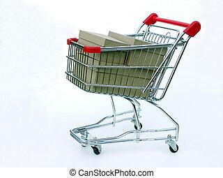 cheio, carro shopping