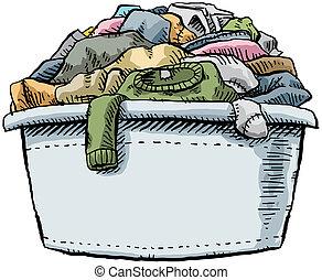 cheio, lavanderia