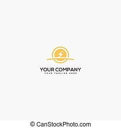 cheio, logotipo, mais claro, poder, parafuso