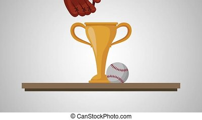 chelf with trophy baseball animation animation
