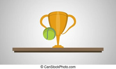 chelf with trophy tennis animation