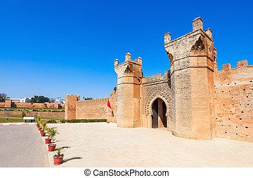 Chellah in Rabat - Chellah entrance gate. Chellah is a...
