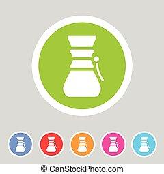 Chemex coffeemaker coffee icon flat web sign symbol logo...
