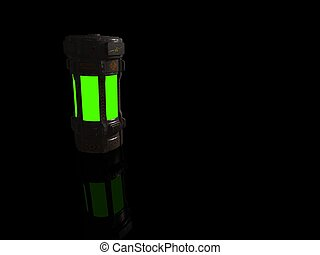 chemical canister - 3d render of chemical canister