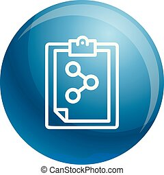 Chemical checklist icon, outline style