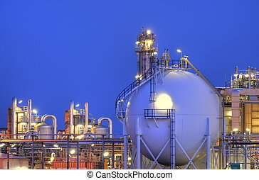 Chemical Complex - Intimate part of a large chemical complex...