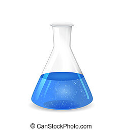 Chemical conical flask and solution