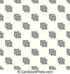 Chemical cube pattern seamless