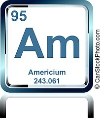 Chemical element americium from the Periodic Table - Symbol ...
