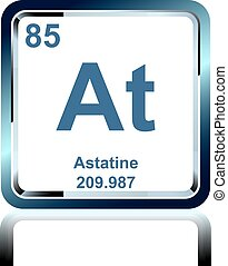Astatine astatium halogens chemical element of stock chemical element astatine from the periodic table urtaz Gallery