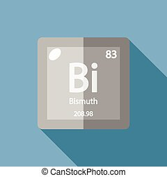 Chemical element Bismuth Flat