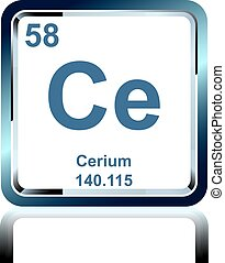 Chemical element cerium from the Periodic Table