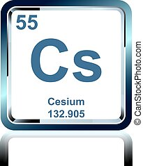 Chemical element cesium from the Periodic Table
