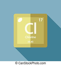 Chlorine chemical element strong oxidizing agent colored chemical element chlorine flat urtaz Image collections