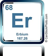 Chemical element erbium from the Periodic Table