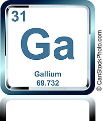 Chemical element gallium from the Periodic Table
