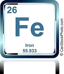 Chemical element iron from the Periodic Table