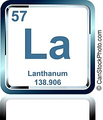 Chemical element lanthanum from the Periodic Table