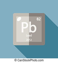 Chemical element Lead Flat