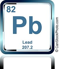 Chemical element lead from the Periodic Table