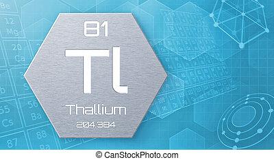 Chemical element of the periodic table - Thallium