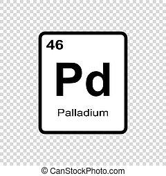 chemical element Palladium - Chemical element of periodic...