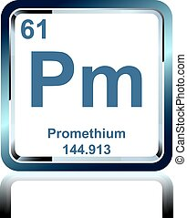 Chemical element promethium from the Periodic Table