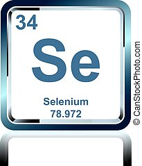 Chemical element selenium from the Periodic Table