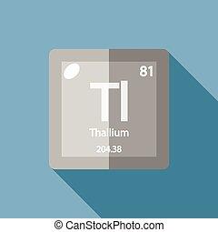Chemical element Thallium Flat