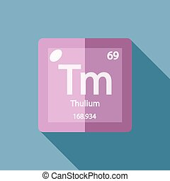 Chemical element Thulium Flat