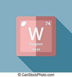 Tungsten chemical element also known as wolfram colored chemical element tungsten flat urtaz Choice Image