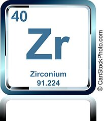 chemical element zirconium from the periodic table - Periodic Table Zr