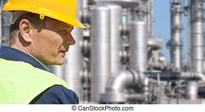 Chemical Engineer - Close up of an engineer wearing a safety...