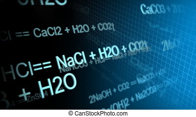 Chemical Equation - Computer-rendered animation for...