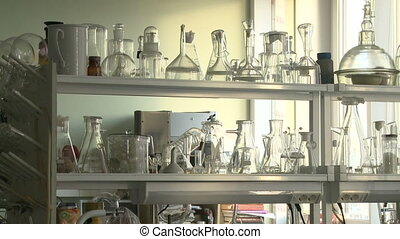 Chemical equipment in laboratory