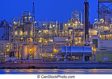Chemical factory - Chemical production facility on a river...