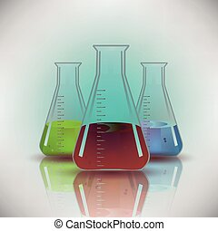 Chemical Flask background vector