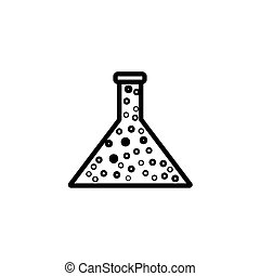 Chemical flask reaction icon