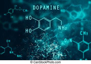 Chemical formula backdrop - Abstract chemical formula...