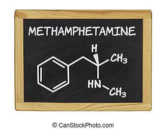chemical formula of methamphetamine
