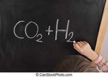 Chemical formula - The student is solving the chemical ...