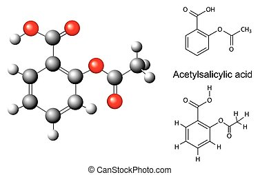 Chemical formulas acetylsalicylate - Structural chemical...